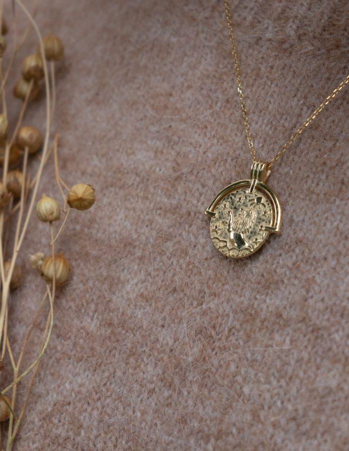 Gold Leo Zodiac Necklace