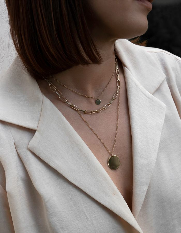 Layered Gold Three-in-One Necklace, Forever Lasting