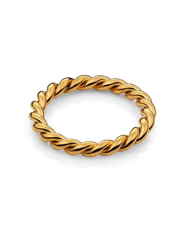 Gold Twist Ring, Forever Lasting