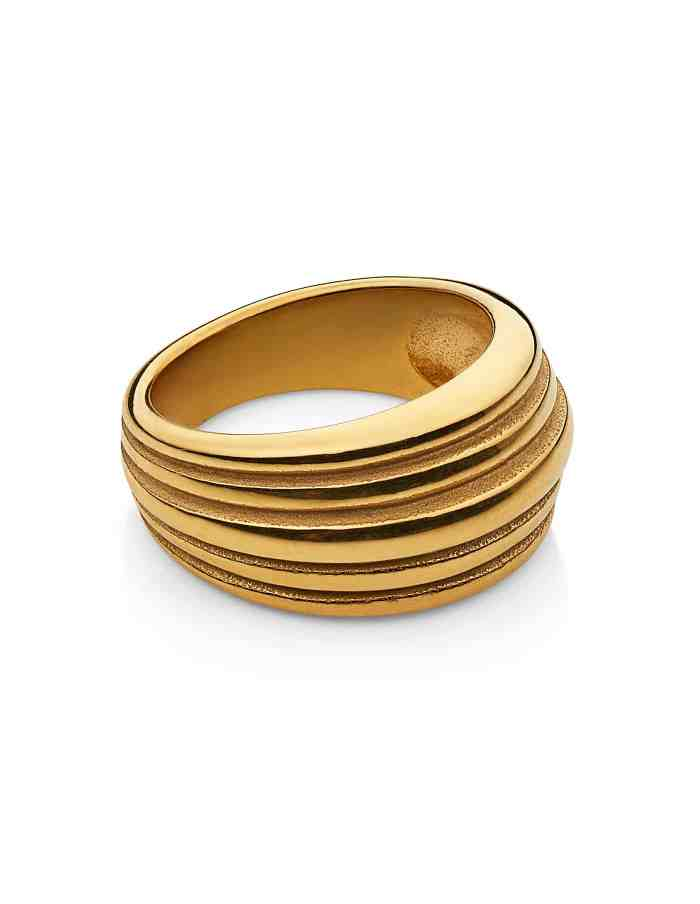 Gold Layered Dome Ring, Forever Lasting