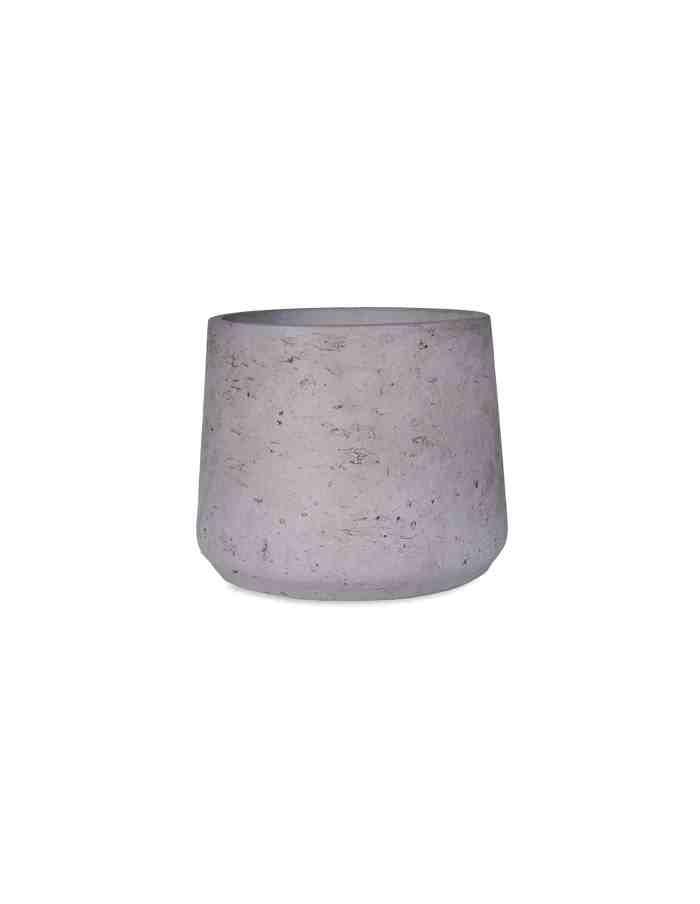 Grey Tapered Plant Pot, Medium