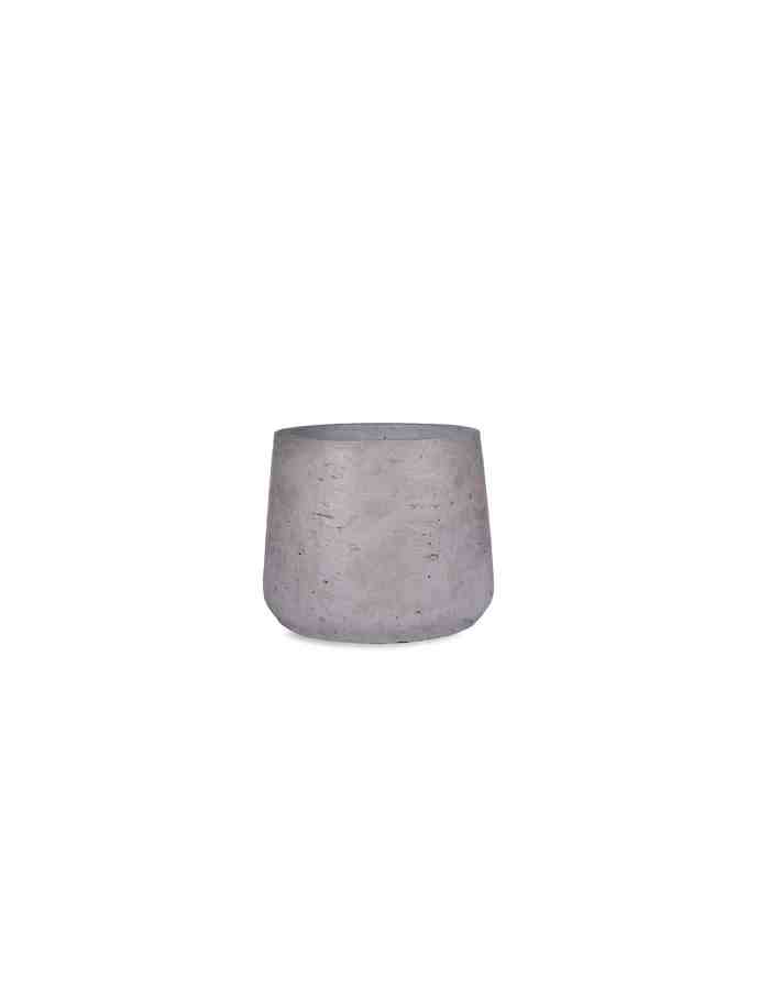 Grey Tapered Plant Pot, Small