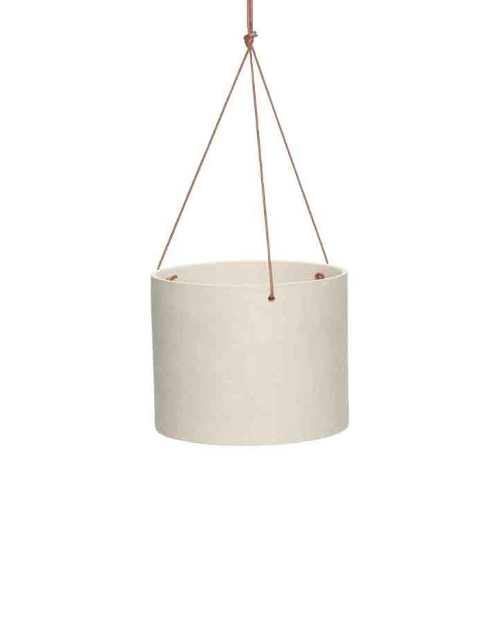 Wide Ceramic Hanging Pot, Hübsch