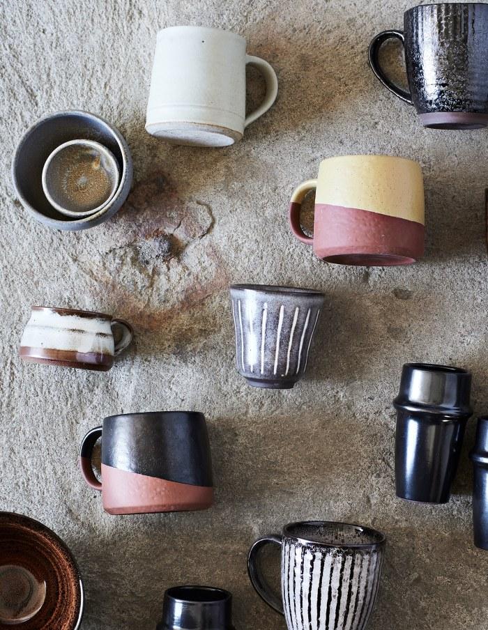 Small Taupe Stoneware Bowl, Madam Stoltz
