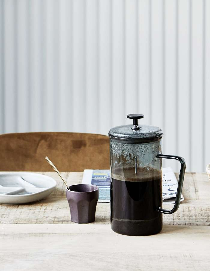 Smoked Glass French Press, House Doctor