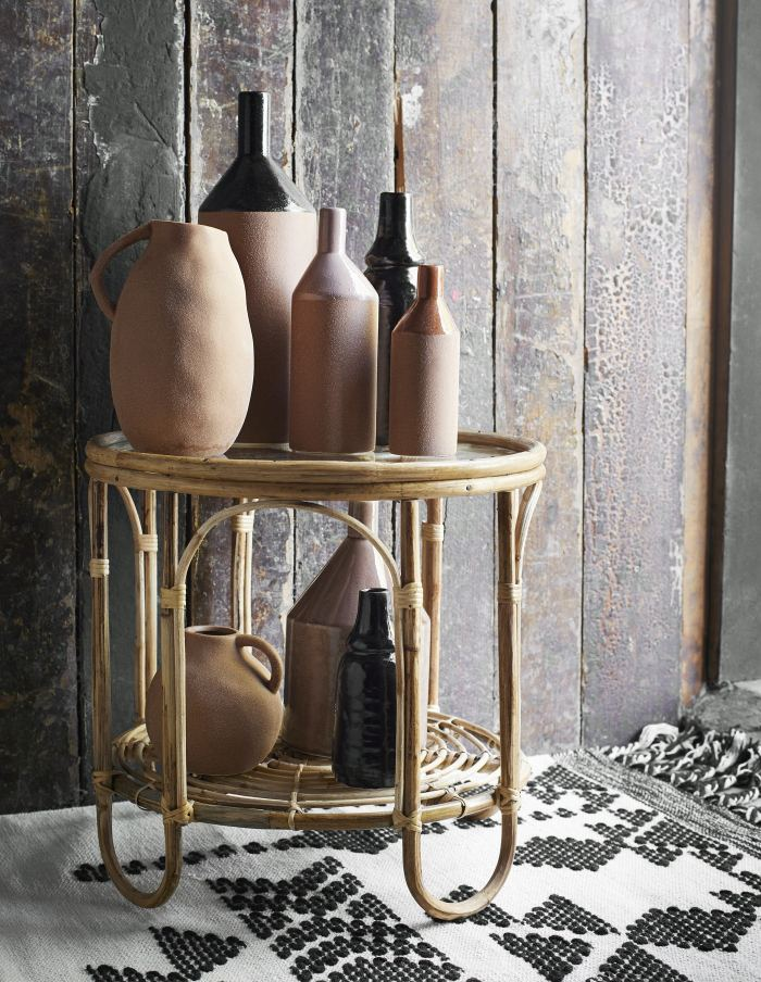 Dusty Rose Stoneware Vase, Madam Stoltz