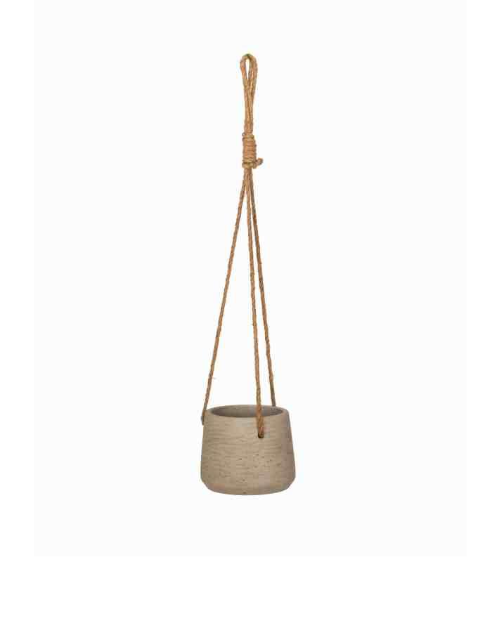 Small Stone Hanging Plant Pot, Concrete