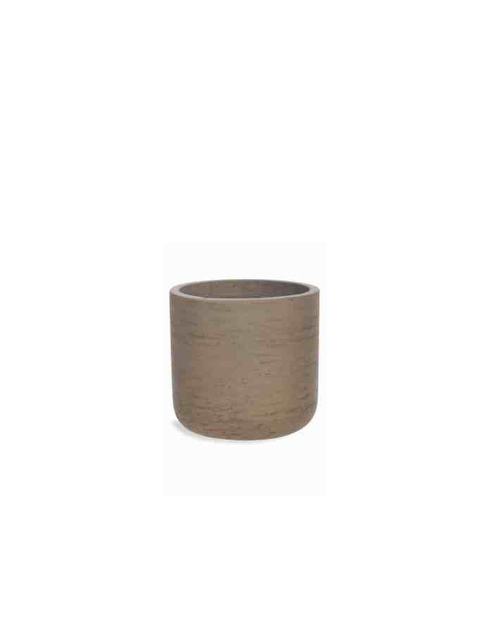 Small Warm Stone Plant Pot, Concrete
