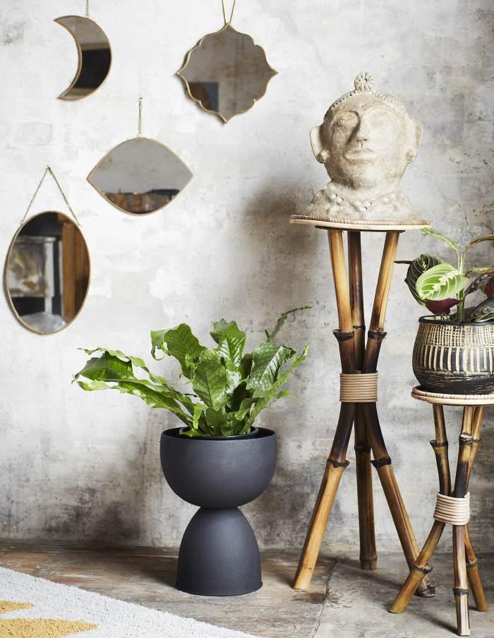 Sculptural Iron Flower Pot