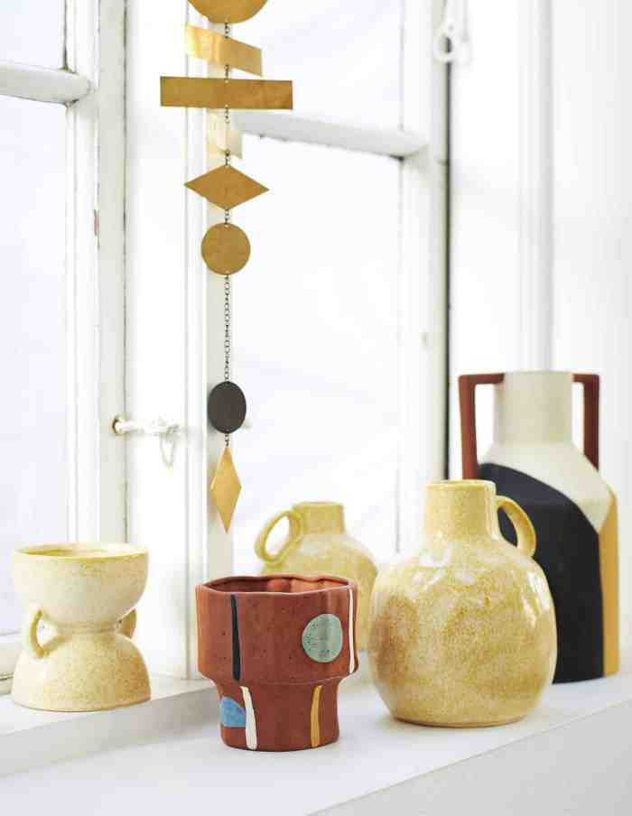 Yellow Terracotta Vase with Handles, Madam Stoltz