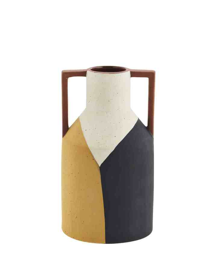 Abstract Print Rustic Terracotta Vase, Madam Stoltz