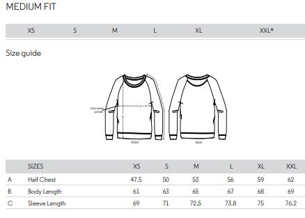 Size comfort sweater