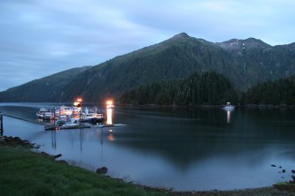 Evening at the Warm Springs Bay Float; photo by Fred Cooper