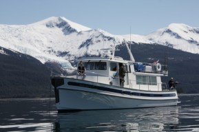 Nordic Quest at Anchor Below Sumdum Glacier; photo by Larry Westerman