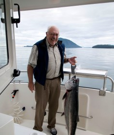 A good sized king salmon