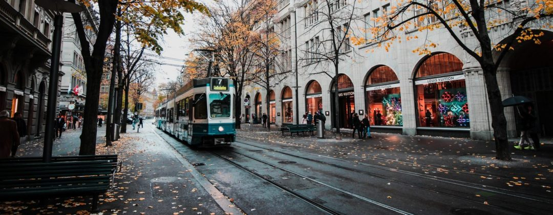 Nordic Environment picture, street and a tram