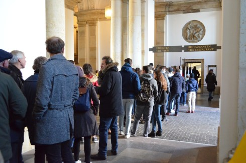 Christiansborg - the queue