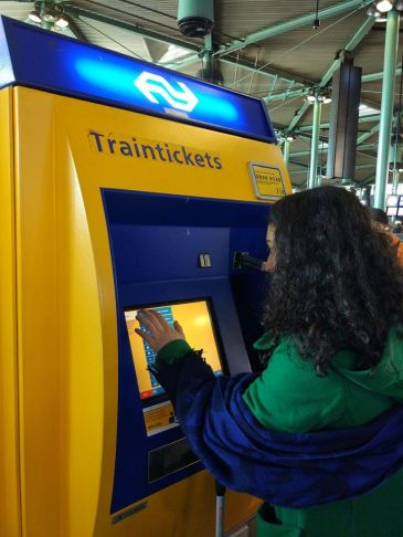 Buying tickets for the trains at the airport. Our payment cards were not accepted at many places.