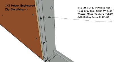 Panel Sheathing detail