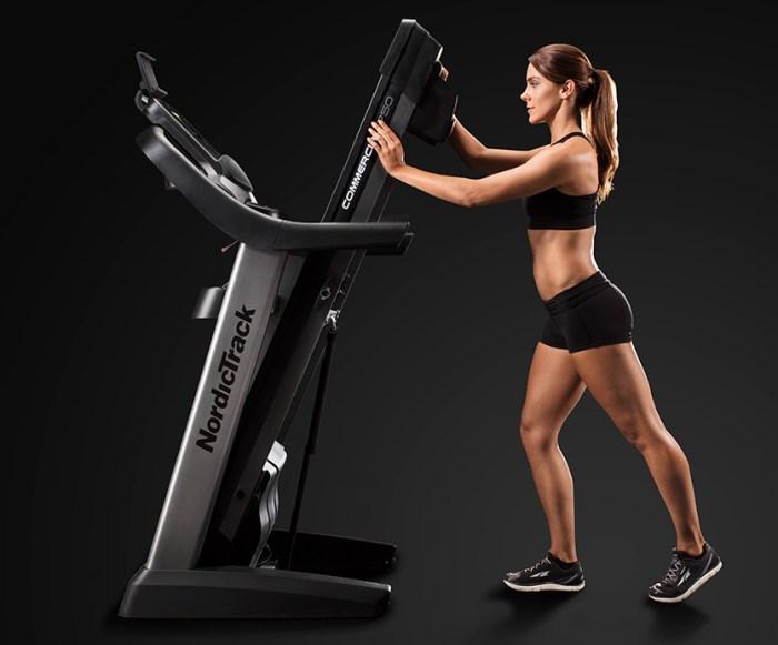 nordictrack 1750 commercial treadmill folding