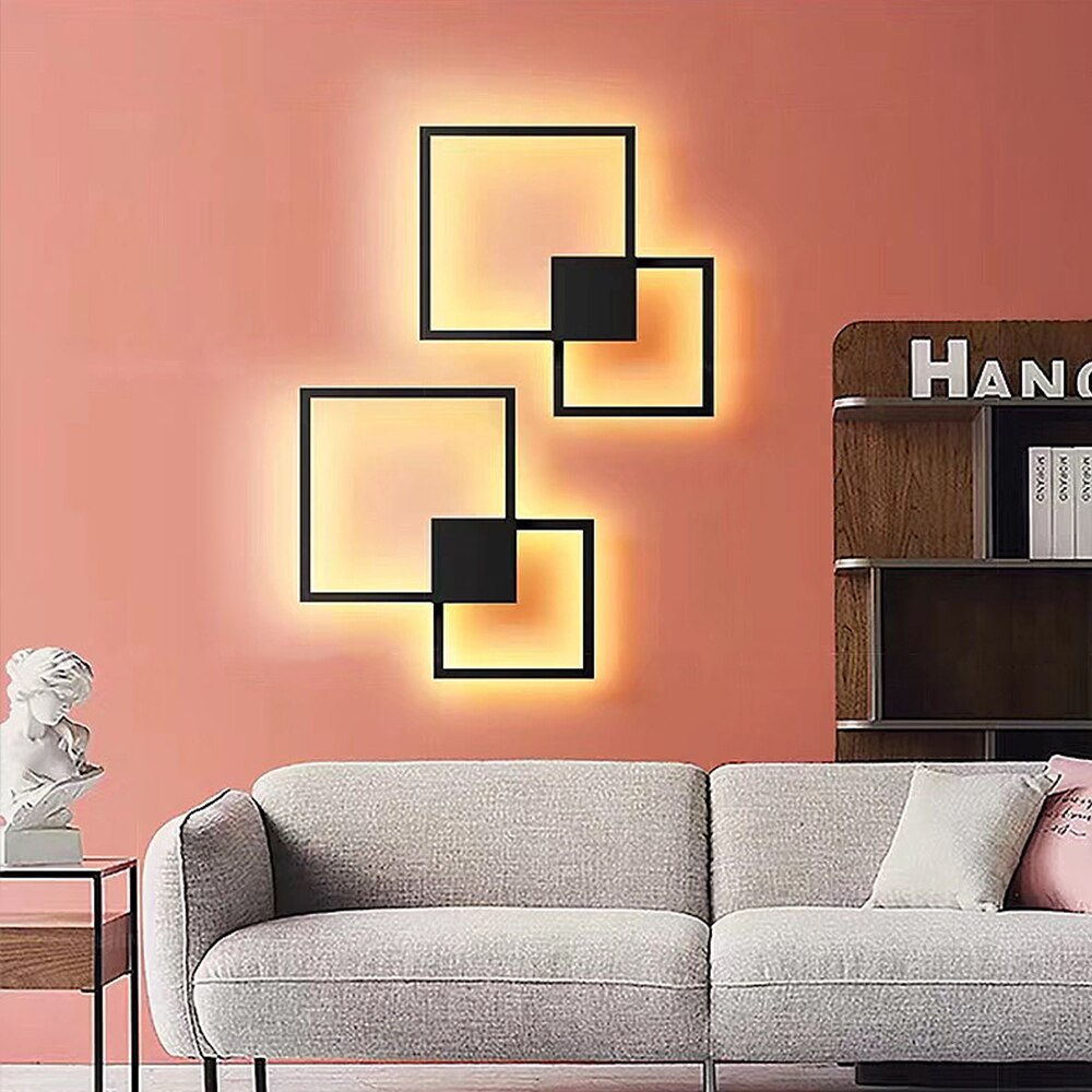 Zerouno Wall Lamps Indoor Tv Background Light Led Wall Lighting Minimalist Art Decor Sconces Home Decoration Wall Lampada Luz Nordic Wall Canvas Home And Decoration
