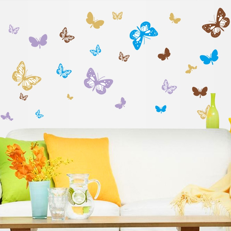 Diy Large Butterfly Wall Stickers Home Decor Living Room Wall Art House Decoration Vinyl Removable Poster Decals Nordic Wall Decor