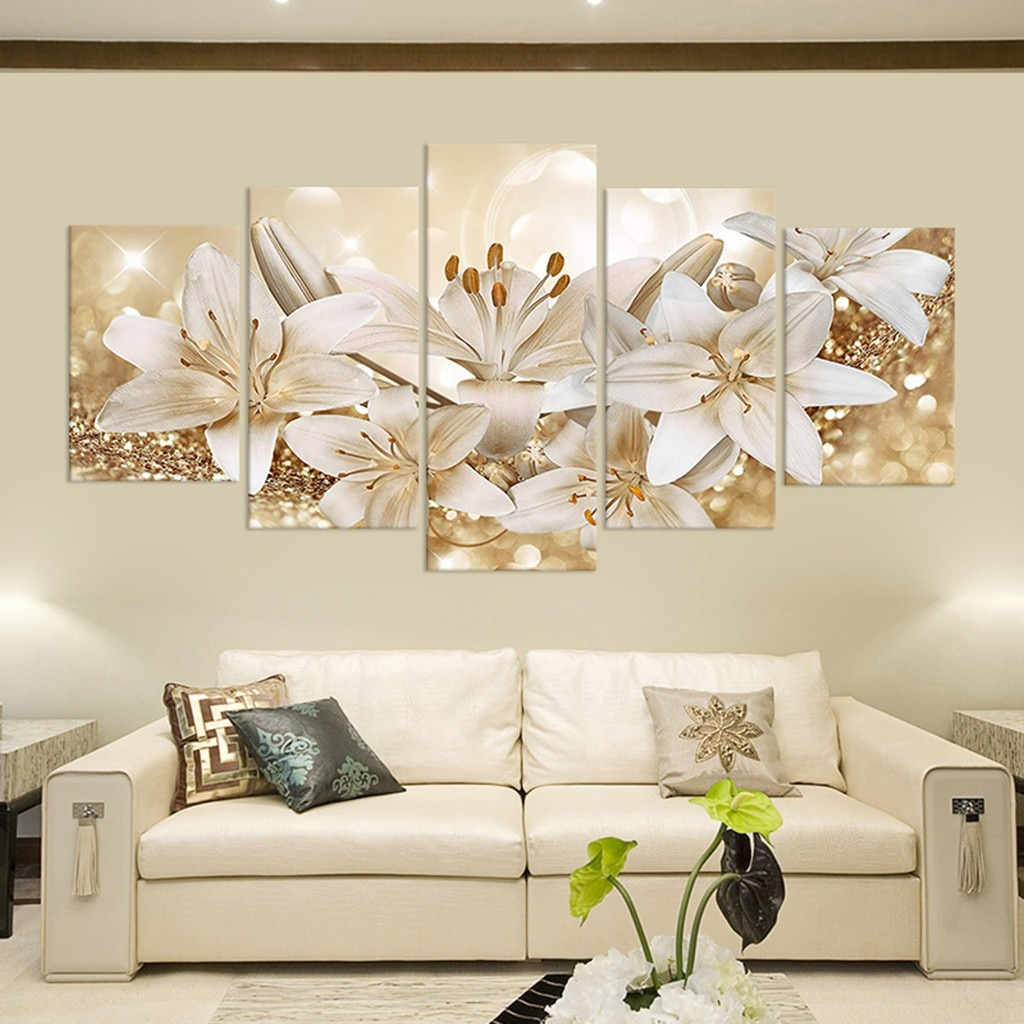 Fashion Beautiful Flower Canvas Painting Modern Wall Art Poster Bedroom Living Room Decoration Painting Home Decor Wall Pictures Nordic Wall Decor