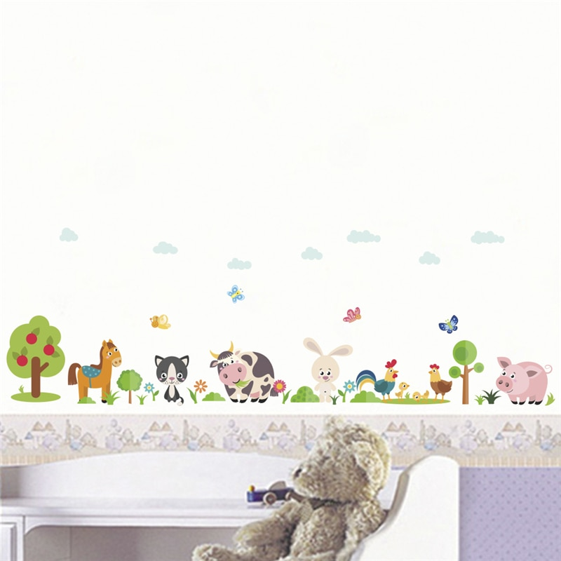 Animals Wall Stickers Wall Art Home Decor Rabbits In The Moon Wall Sticker Decal Illustrations Illustration Wall Stickers Wall Decals
