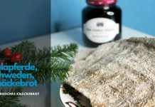 Knäckebrot selber backen, Schwedenbrot, Schwedisches Knäckebrot, Rezept, Weihnachten, Weihnachtsknäckebrot, Teigrolle Dalapferde,
