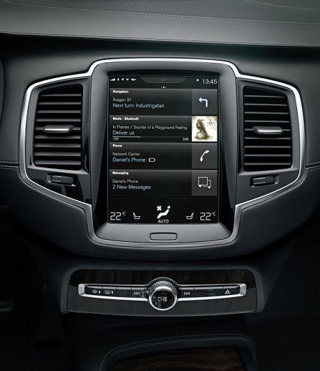Infotainment im neuen Volvo XC90. Ab 2019 in Kooperation mit TomTom. Bild: Volvo Cars.