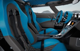Koenigsegg Agera R, blaues Interieur