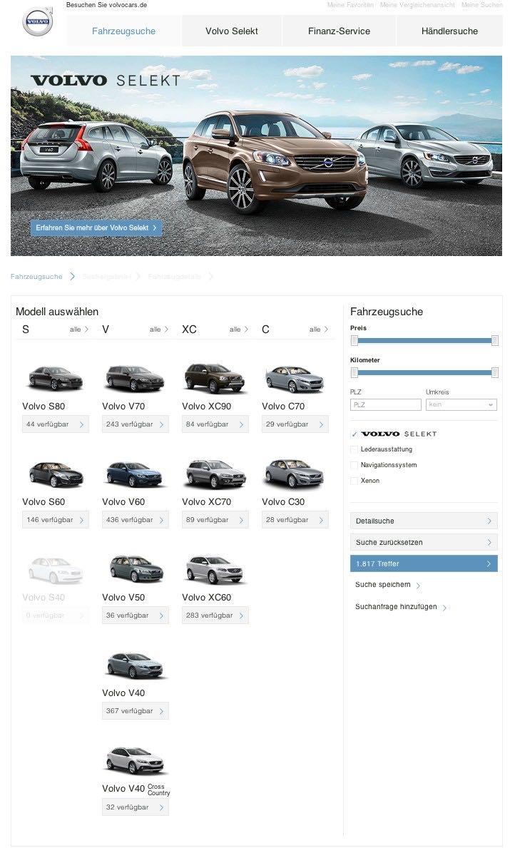 Volvo Selekt Gebrauchtwagenbörse  Bild: Volvo Cars