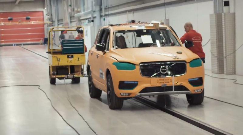 Volvo XC90 im Volvo Car Safety Center. Bild: Volvo Cars.