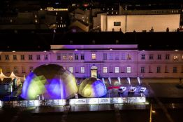 Volvo Dome of Design bei Nacht. Bild: Volvo Cars