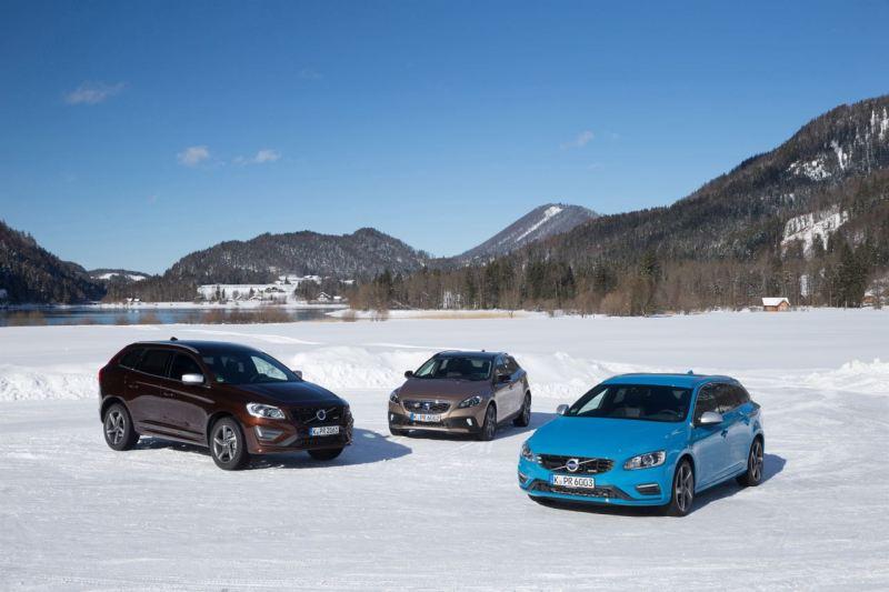 Volvo Deutschland auf Wachstumskurs. Von links nach rechts: Volvo XC60, Volvo V40 Cross Country und Volvo V60. Bild: Volvo Cars.