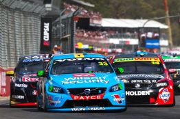 2015 V8 Supercar Championship Round 1. Clipsal 500, Adelaide, Australia. Saturday 28th February 2015. Scott McLaughlin drives the #33 Wilson Security Racing GRM Volvo World Copyright: Volvo Polestar Racing