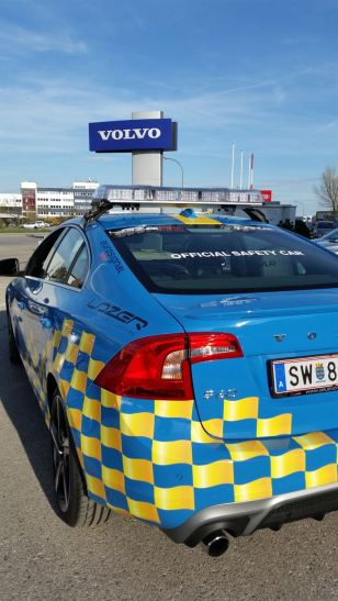 Volvo S60 T6 R Design. Safety Car. Bild: Volvo Austria