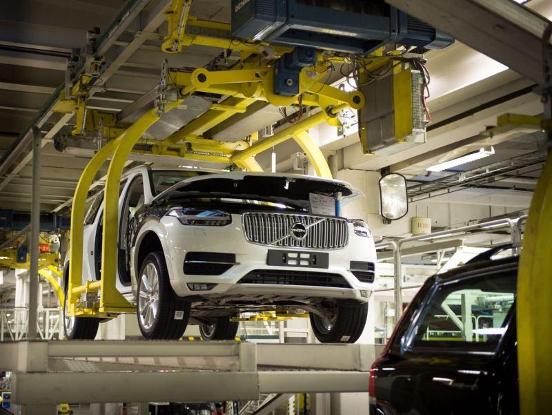 Produktion XC90 in Torsalanda. Bild: Volvo Cars