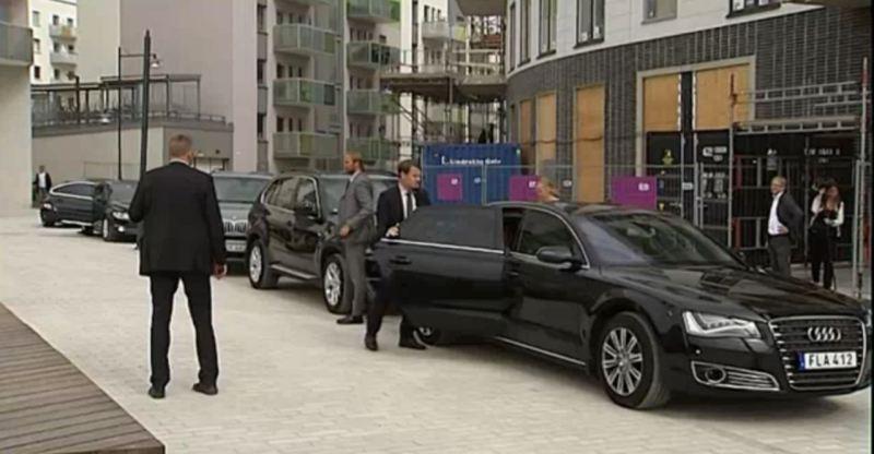 Staatslimousine Audi A8, BMW X5 Sicherheitspolizei