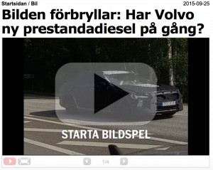 Volvo Prestigediesel? Spekulation im Aftonbaldet.