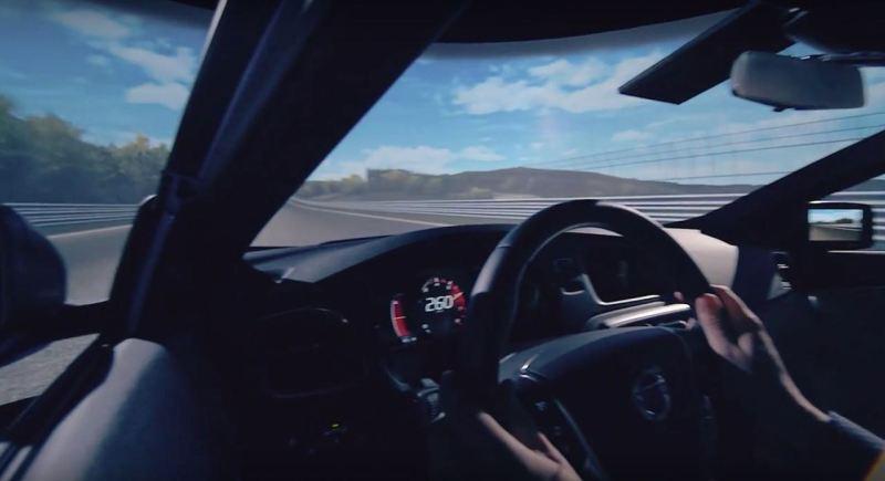 Volvo S90 Probefahrt. Ort: Nuerburgring (virtuell)