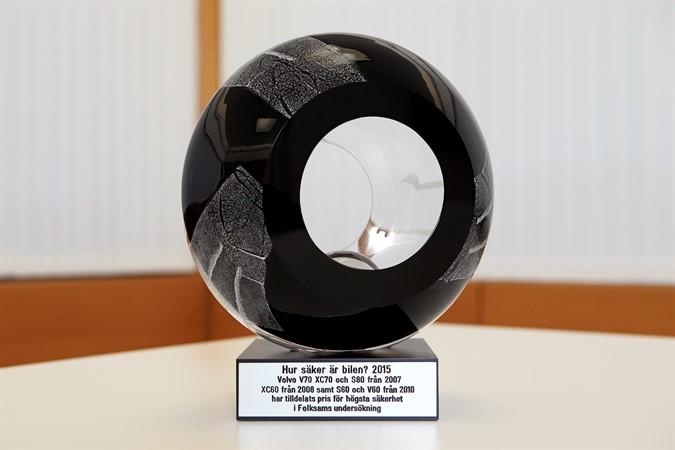 Volvo Cars Preis von Folksam für die sichersten Autos 2015