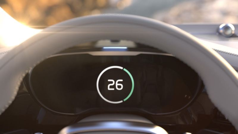 Volvo Time Machine Concept Dashboard Teaser