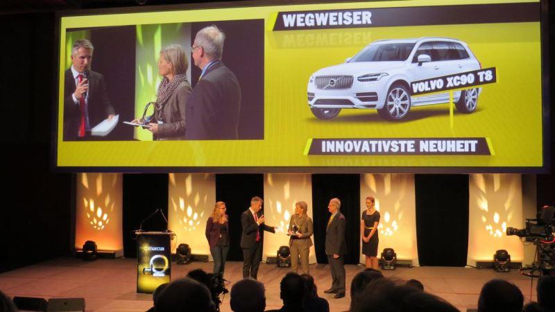"""Volvo XC90 gewinnt den """"MARCUS"""" als innovativste Neuerscheinung des Jahres 2015"""