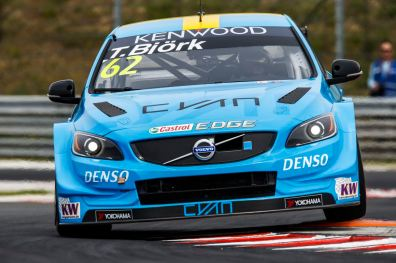 62 BJORK Thed (swe) Volvo S60 team Polestar Cyan racing action during the 2016 FIA WTCC World Touring Car Race of Hungary at hungaroring, Budapest from April 22 to 24, 2016 - Photo Florent Gooden / DPPI