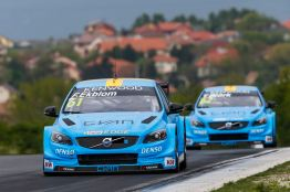 61 EKBLOM Fredrik (swe) Volvo S60 team Polestar Cyan racing action during the 2016 FIA WTCC World Touring Car Race of Hungary at hungaroring, Budapest from April 22 to 24, 2016 - Photo Florent Gooden / DPPI