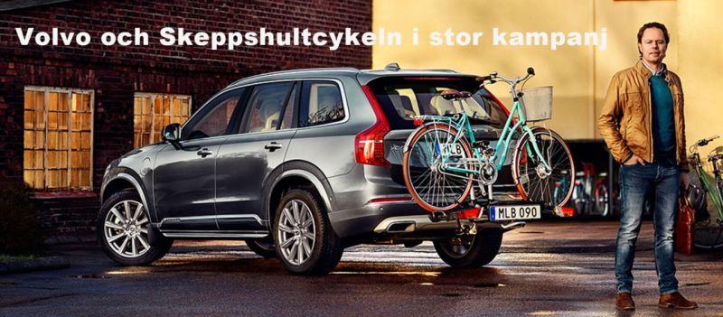 Skeppshultcykeln und Volvo. Neue Kampagne in Schweden.