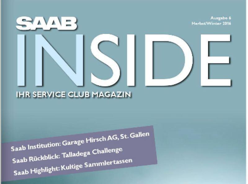 Saab Inside Nummer 6. Bild: Orio Deutschland.