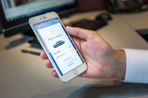Volvo Concierge App. Bild: Volvo Cars