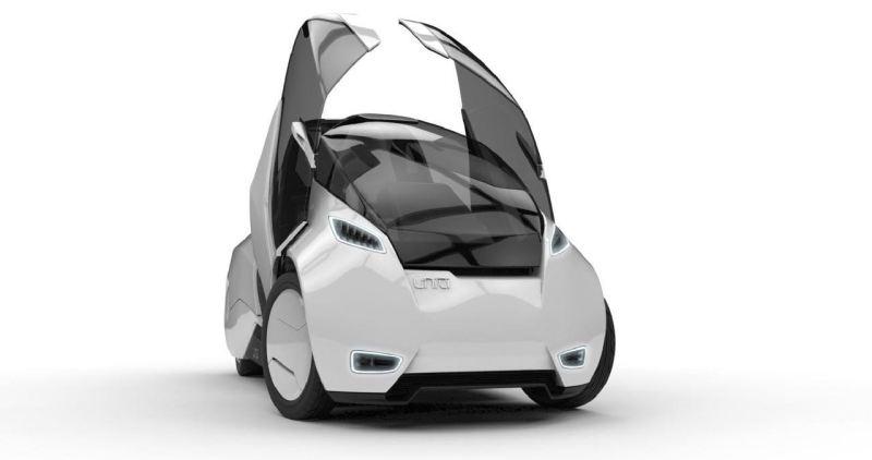 Crowfunding Projekt Uniti, Elektroauto aus Lund. Bild: Uniti AB